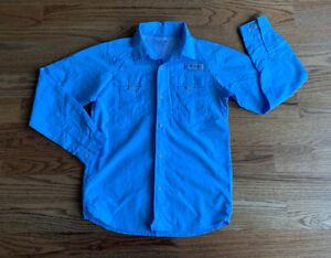 Columbia PFG Hiking Fishing Camping Button Down Nylon Shirt Boy's Size L 14/16