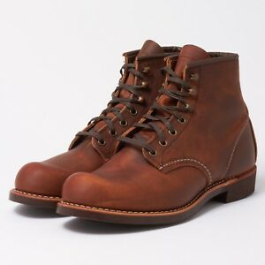 RED WING BLACKSMITH 6-INCH BOOT COPPER ROUGH&TOUGH LEATHER 3343 MADE IN THE USA