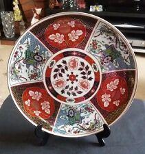VINTAGE Japan IMARI Display/Piastra Gabinetto dipinti a mano 26.5 cm D DA COLLEZIONE