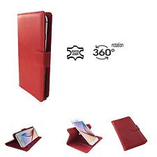 MEDION LIFE P5005 - Smartphone HQ Leder hülle - 360° M Echtleder Rot
