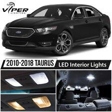 2010-2018 Ford Taurus White LED Lights Interior Package Kit SHO