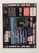 *BACK INLAY ONLY* Rainbow Six Lone Wolf Back Inlay  PS1 PSOne Playstation