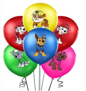 "PAW PATROL Multicolour 12"" Latex Party Balloons Marshall Chase Rocky Zuma"
