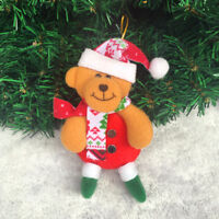 Christmas Tree Decoration - Soft Toy - Snowman Reindeer Bear Santa - Handmade UK