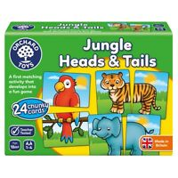 Orchard Toys 058 Jungle Heads & Tails Fun Learning Kids Games Ages 18 Months+