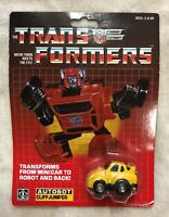 TRANSFORMERS G1 AUTOBOT YELLOW CLIFFJUMPER MOSC! US SELLER RARE VARIANT!