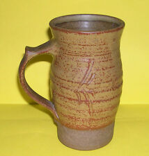 ROGER cockram STUDIO POTTERY-Attraente Tall TANKARD 16 CM-FULL Potters Mark.