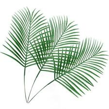 8Pcs Artificial Palm Leaves Stems Fake Tropical Palm Tree Green Plant Home Decor