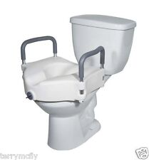 Locking Raised Toilet Seat With Padded Arms