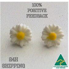 Daisy Studs Earrings White Yellow Boho Hippie Small Flower Sunflower Bridal Gift