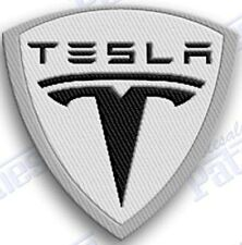 Tesla  IRON ON EMBROIDERed PATCHES    Size Is 3 INCHes PATCH ELECTRICal sport