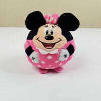"Ty Disney Minnie Mouse 4"" Plush Beanie Ballz Pink Dress Stuffed Animal Toy Ball"
