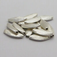 400 PCS 8MM SPACER BRUSHED FLAT DISC STERLING SILVER PLATED  H-238