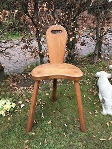 Oak 3 Leg Milking Stool