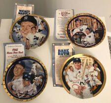 3 Mickey Mantle+1 Babe Ruth New York Yankees Hamilton Collection Plates