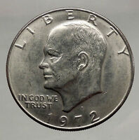 1972  President Eisenhower Apollo 11 Moon Landing Dollar USA Coin  i46153