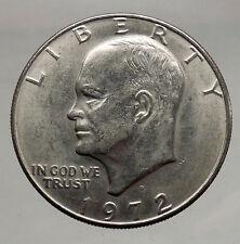 1972  President Eisenhower Apollo 11 Moon Landing Dollar USA Coin  i46153