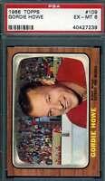 Gordie Howe Psa Dna EX-MT 6 1966 Topps Hockey Card Should Be 7