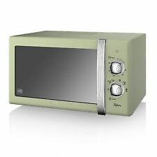 Swan SM22130GN Retro Manual Microwave 20 Litre 800 W Green