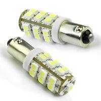 2 x BA9S T4W 1895 Weiß 25 LED 3528 SMD Auto Corner Rücklicht-Birnen-Lampe 12V