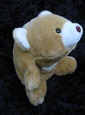 """Vintage Gund Beige Cream Snuffles Bear Brown Nose 9"""" 1980"""