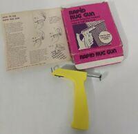 Vintage Rapid Rug Gun Complete Instructions Original Box Create Hooked Rugs Fast