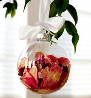 50* glass memory photo bauble 6cm xmas tree wedding table centrepiece craft ball