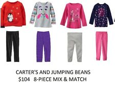 Carters & Jumping Beans Shirts Pants Leggings Outfits Lot 18 Mo. Mix Match $104