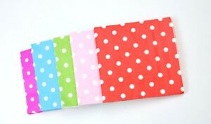 33CM Paper Polka Dot Napkin Event Catering Birthday Wedding Party 20-80PCS Fast