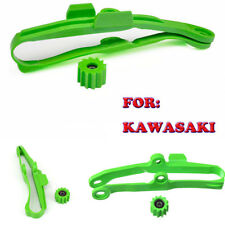 Green Motorcycle Chain Slider with Lower Roller for Kawasaki KX250F KX450 KXF250