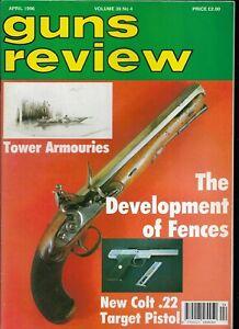GUNS REVIEW April 1996 - Colt 22 Target Pistol, Brocock, Giffard Carbona