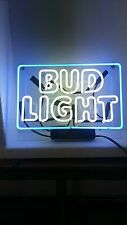 "Bud Light Neon Light Sign Lamp Beer Pub Acrylic 14"" Real Glass Handmade Artwork"