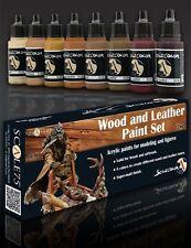 Scale 75 Wood & Leather Colours Acrylic Paint Set 8 Bottles