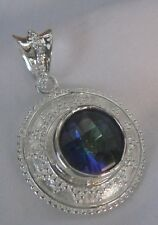 Mystic Topaz STUNNING Pendant Sterling Silver NEW Collection - LIMITED!!