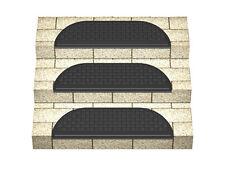 6 x Gummi-Stufenmatten mit Winkelkante, schwarz