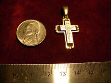 14k   gold pendant  cross    29x20mm  yellow gold  PRICED TO SELL   not scrap