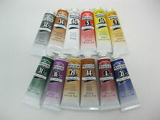 12- TUBES WINTON ARTIST OIL COLOURS 37 ML  (BRAND NEW)