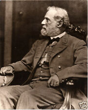 Civil War Confederate General Robert E. Lee Profile Portrait Photograph GREAT
