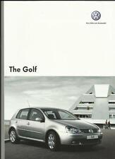 Vw Volkswagen Golf S, Match, Gt Sport, Gti, Gti Ed.30 & R32 Venta folleto de julio de 2007