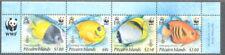 Pitcairn Island-Reef Fish 2010 set  WWF issue mnh
