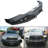 For 2007-2013 Toyota Tundra Front Bumper Steel Winch Ready Black Powder