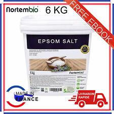 Sel d'Epsom NortemBio 6 Kg Source concentrée de Magnésium 100% Naturel Bain Soin