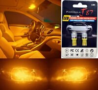 LED 5050 Light Orange Amber 168 Two Bulb License Plate Tag Replace Lamp SMD JDM