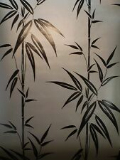 Saharan Pewter Black Bamboo Stalk Satin Wallpaper by Brewster  283-46909