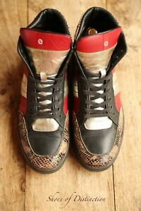Vintage Men's Gucci Snake Skin Leather Hi Tops Boots Trainers Sneakers UK 7 US 8