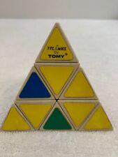Vintage Tomy PYRAMINX pyramid brain teaser twist puzzle Rubik's cube game