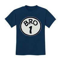 Bro 1 Kids T-Shirt Brother Seuss Sister Siblings Thing Dr 1 2 3 Crewneck Tee Top
