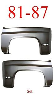 No Shipping 81 87 Chevy Front Fender Set, Truck, Blazer 0851-005 0851-006