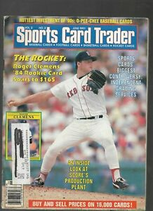 Sports Card Trader Magazine June 1991 MLB Roger Clemens Boston Red Sox On Cover