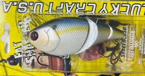 LUCKY CRAFT FAT SMASHER 90 HARD BODY LIPLESS SWIMBAIT - PEARL THREADFIN SHAD